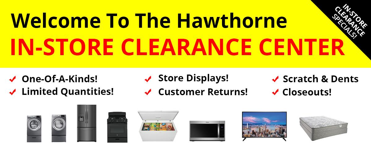Welcome to the Hawthorne Clearance store!