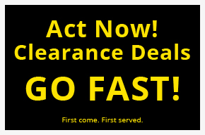 Act now clearance deals go fast.