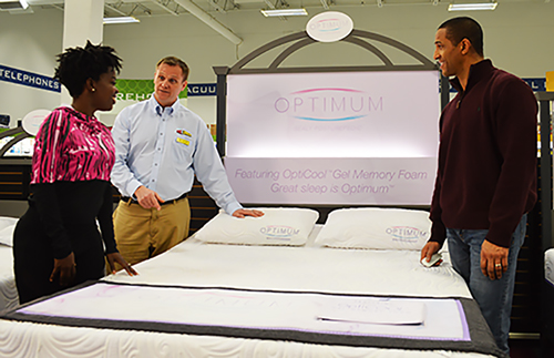 Couple Shopping for Mattress